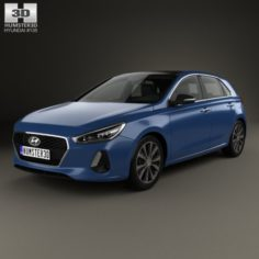 Hyundai i30 Elantra 5-door 2016 3D Model