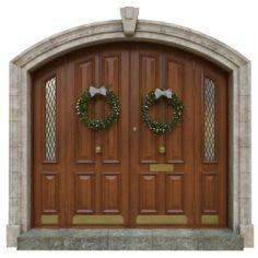 Entrance classic door 05 3D Model