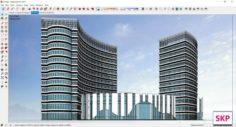 Sketchup Hotel H4 3D Model