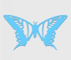 Wall Butterfly 3D Model