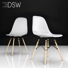 Eames DSW plastic side chair 3D Model