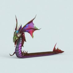 Cartoon Monster Dragon 3D Model
