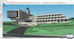 Sketchup Recreational complex B8 3D Model