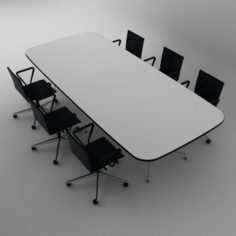 Modern meeting table with V-Ray 3D Model