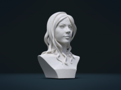 Woman head and Hairstyle 3D Model