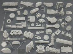 Kit bash55 pieces – collection-18 3D Model