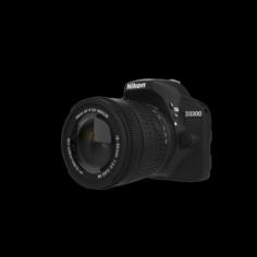 DSLR 24MP CAMERA BLACK 3D Model