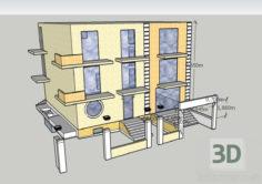3D-Model  Guest House