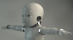 Robot Baby 3D Model