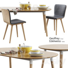 Made / Geoffrey Chair + Edelweiss Table                                      3D Model