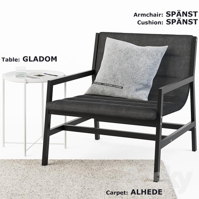 IKEA SPANST, ALHEDE, GLADOM SET                                      3D Model