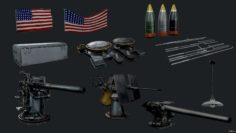 USS Texas Props 3D Model