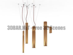 Chandelier sconce tube 3D Collection