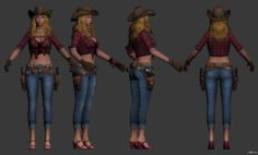 The Lady 3D Model
