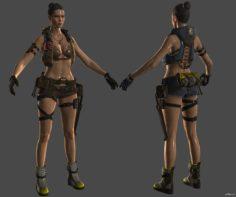 Girl from Ironsight 3D Model