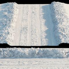 Snowy road                                      3D Model