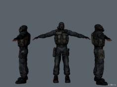 Наёмник (Обычный) 3D Model