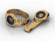 Casio wave ceptor wristlet watch 3D Collection