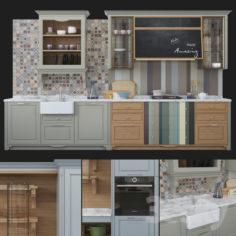Kitchen Aster Cucine Portrait                                      3D Model