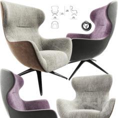 Poliform Mad Joker Revolving or Four-Leg Armchair                                      3D Model
