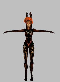 Natla burned 3D Model