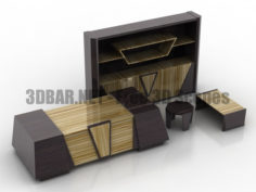 Solenne Quadro Cabinet office furniture set 3D Collection
