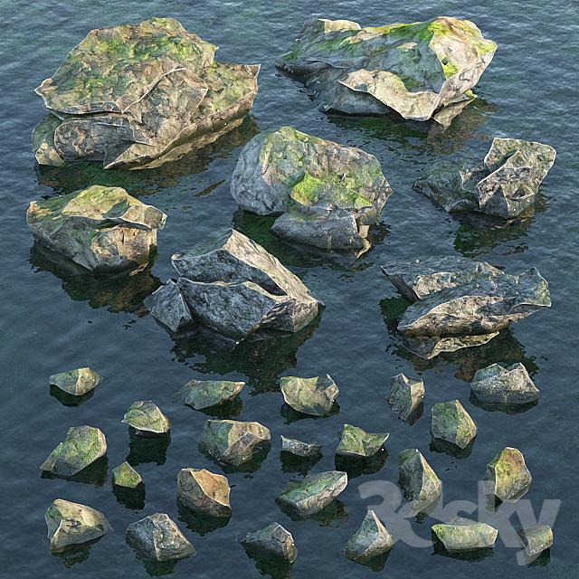 Water stones                                      3D Model
