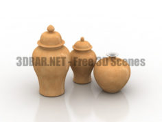 Vases Decor Set 3D Collection