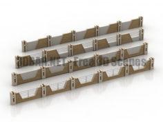 Fences gate 3D Collection