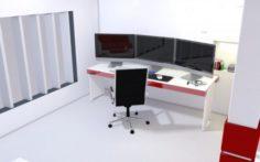 Computer Work Station 3d model
