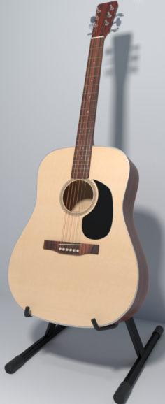 3D-Model  Dreadnaught Guitar