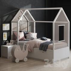 Kid's Bedroom set                                      3D Model