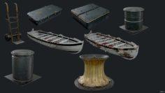 USS Texas Props 2 3D Model