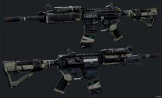 Assault Rifle NV4 3D Model