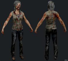 """(DLC) Infected """"Runner"""" Vivian 3D Model"""