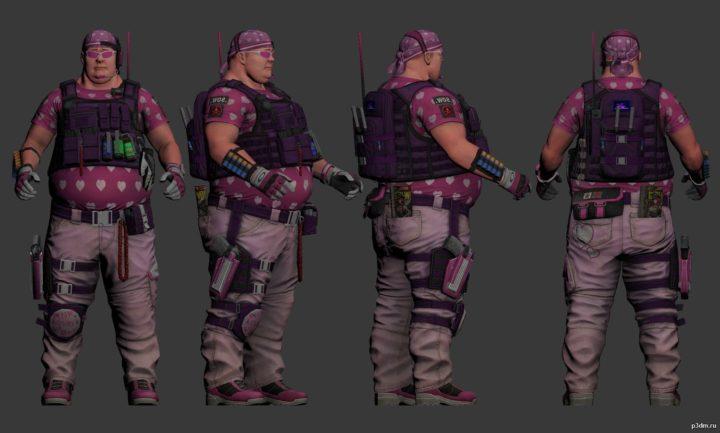 Pink Pink Big Boy 3D Model