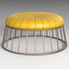 Radcliffe Leather Ottoman 3D Model