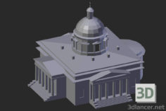 3D-Model  Moscow. Danilov Monastery. Trinity Cathedral