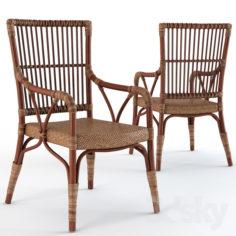 Natalia Rattan Living Room Chair                                      3D Model