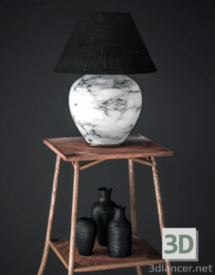 3D-Model  Table lamp on the table