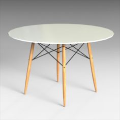 Eames Dining Table Set 3D Model
