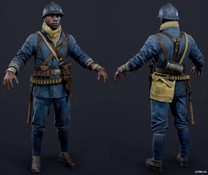 French Assault 3D Model