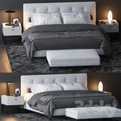 BED BY MINOTTI 7                                      3D Model