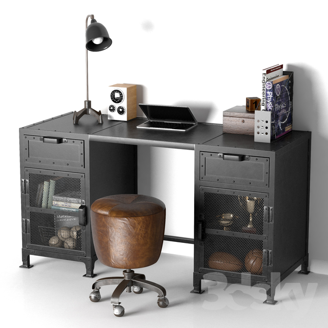 HOPPER STORAGE DESK                                      3D Model