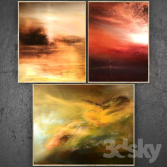 Paintings abstract | set 340                                      3D Model