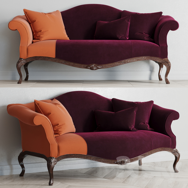 Baker King George settee                                      3D Model