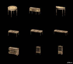 Wood Furniture 3D Model