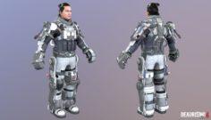 Lt. James Cabellero 3D Model