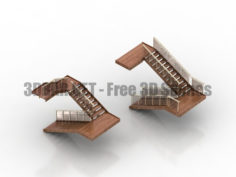 Staircase of a private house 3D Collection