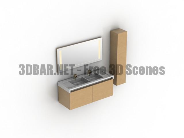 Roca Stratum Sink Mirror 3D Collection